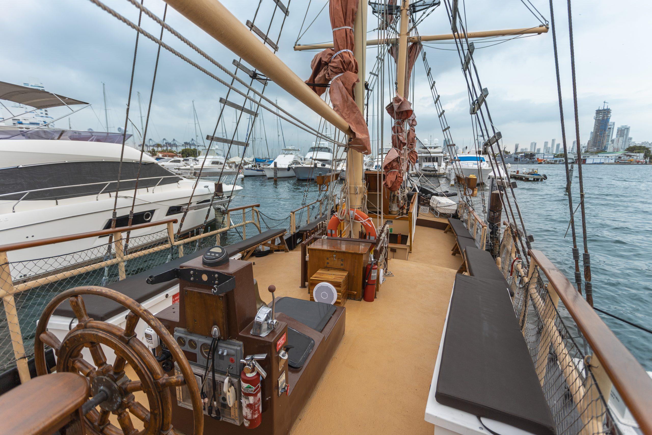 Boat Tour Cartagena Spacious Deck