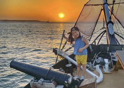 Sunset Boat Tour Cartagena Pirate Ship La Fantastica Child