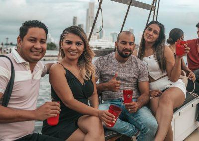 Sunset Boat Tour Cartagena Pirate Ship La Fantastica People